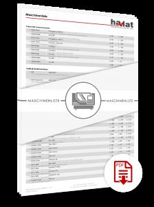 Maschinenliste HAVLAT Präzisionstechnik GmbH_07_16